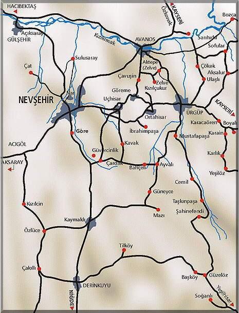 Kapadokya Haritası 1